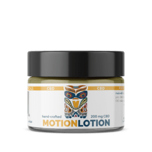 hand crafted motion lotion with cbd