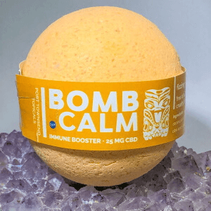 bath bomb immune booster with cbd
