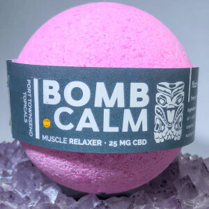 bath bomb muscle relaxer with cbd